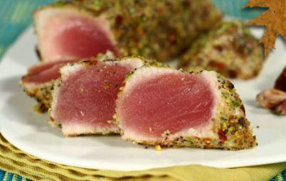 tonno in crostadi pistacchi