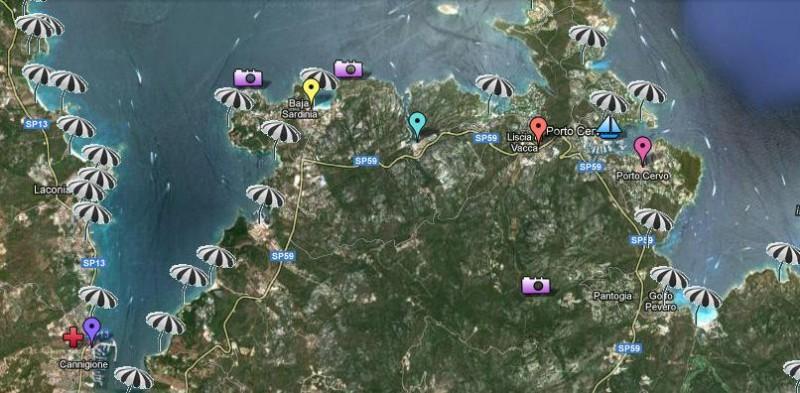 Cartina Spiagge Sardegna Nord.La Mappa Delle Spiagge Della Costa Smeralda Arzachena Costa Smeralda