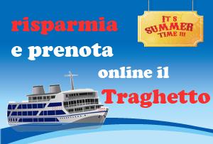 Prenota il tuo traghetto online e risparmia